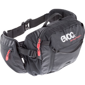 EVOC Hip Pack Race Backpack 3 L + Hydration Bladder 1,5 L, black